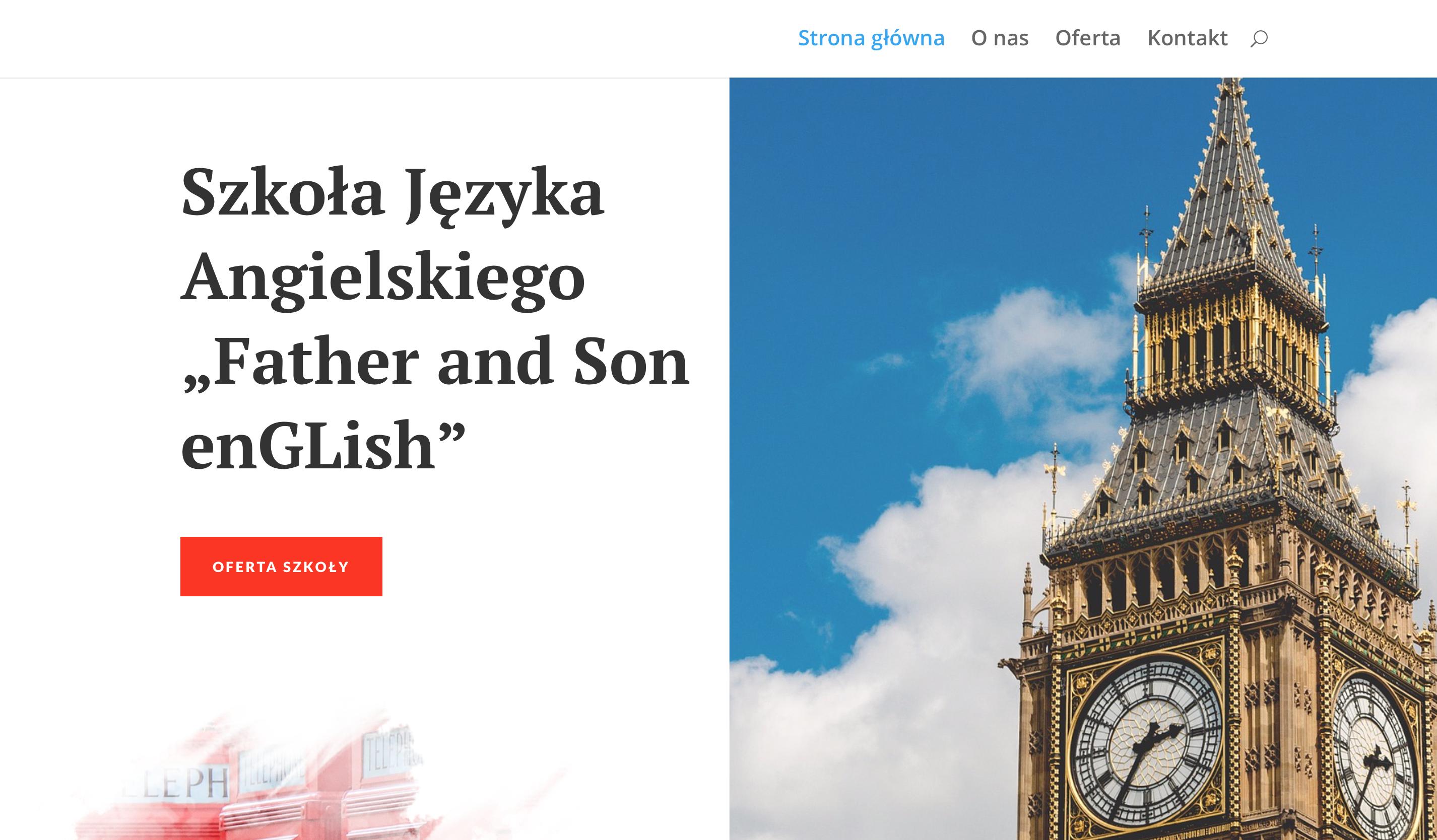 """Szkoła Języka Angielskiego """"Father and Son enGLish"""""""